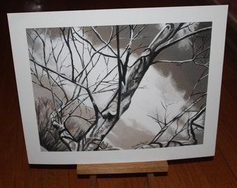 Winter Tree Three, original art, digital print