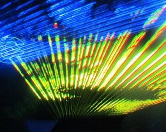 Laser show, original art photo, canvas print