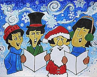 Happy Christmas ,Christmas card, OOAK