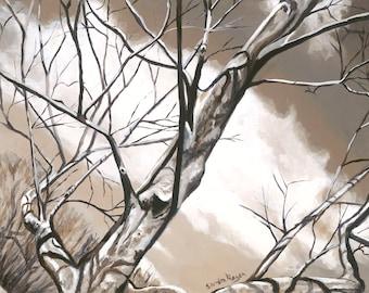 Winter Tree Three, original art print