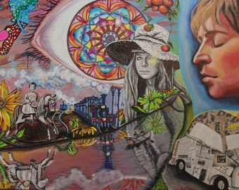 LSD Dream, Lucy in the sky with Diamonds, John, Original painting, original prints