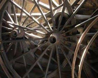 The Cooper's Wagon wheels