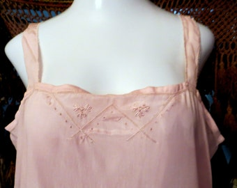 b95d6713c9c 1920s 2 Piece Embroidered Silk Tunic w Step-in Slip Like Bottoms