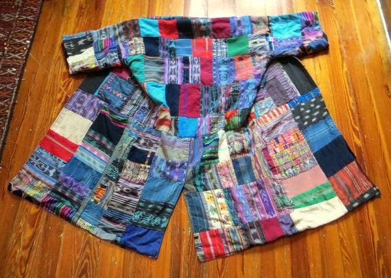 Unisex Guatemalan Fiesta Patchwork Reversible Coat