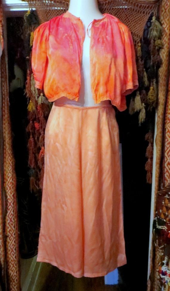 1920s Pink Silk Lounge/Beach Pajamas/Palazzo Styl… - image 8