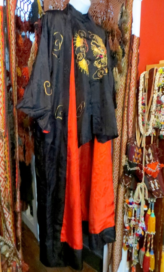 Rare 1930s/40s 3 Piece Japanese Silk Gold Embroid… - image 1