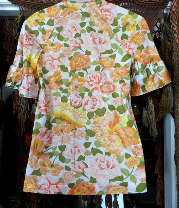 NOS Vanity Fair 50s/60s Floral Nylon Beach Pajama… - image 8