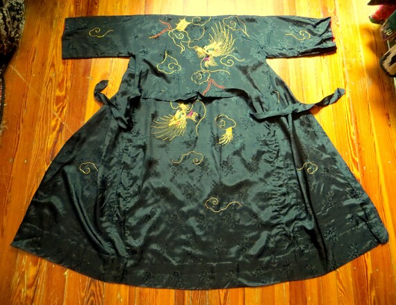 Rare 1930s/40s 3 Piece Japanese Silk Gold Embroid… - image 4