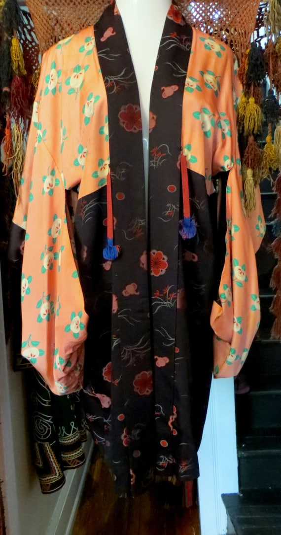 Great 30s/40s Asian Reversible Cherry Blossom Silk