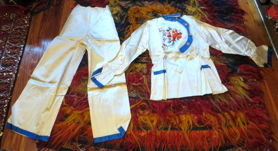 1940s/50s Boxed Asian Pajama Set with Slippers