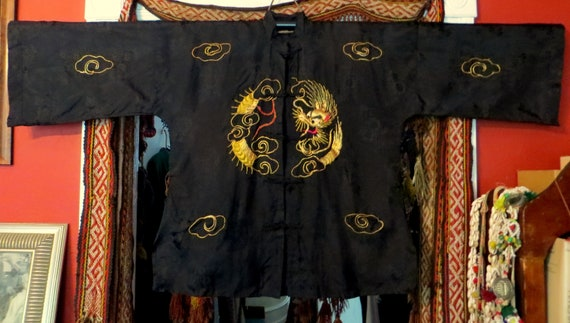 Rare 1930s/40s 3 Piece Japanese Silk Gold Embroid… - image 6