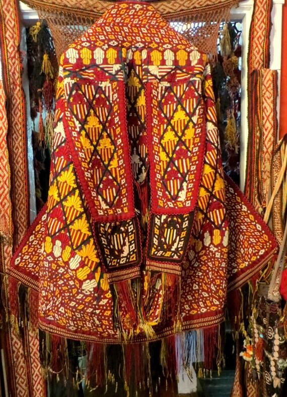 SALE Ethnic Turkmen Embroidered Tekke Chyrpy, Art