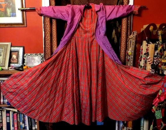 Stunning 40s/50s Reversible Taffeta Robe/Dressing