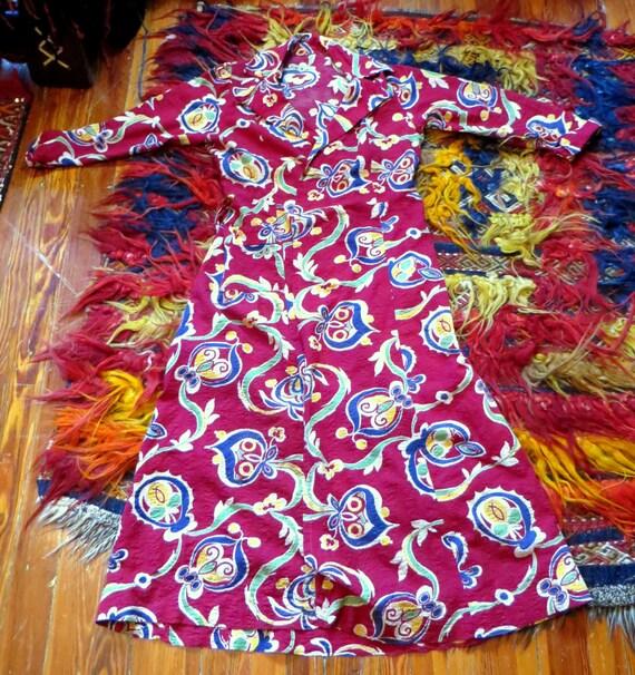 SALE 40s Seersucker Dress/Robe, SML