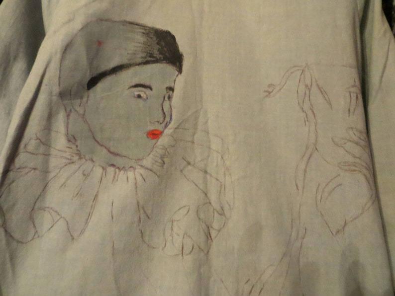 Outrageous Hand Painted Koret of California Deco 40s50s  Swing Jacket Art to Wear