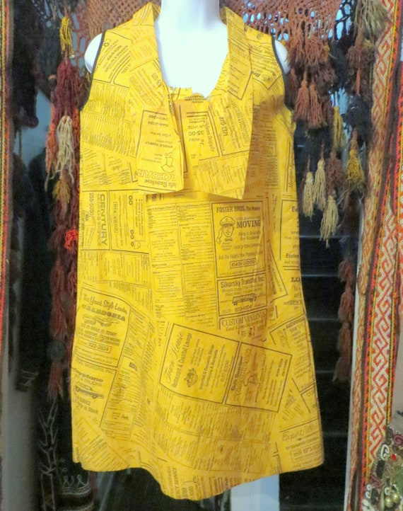Outrageous 60s Yellow Pages Advertising Paper Dres