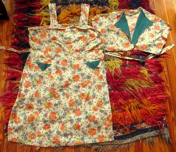 Fab Novelty Tiki Print Sundress with Bolero