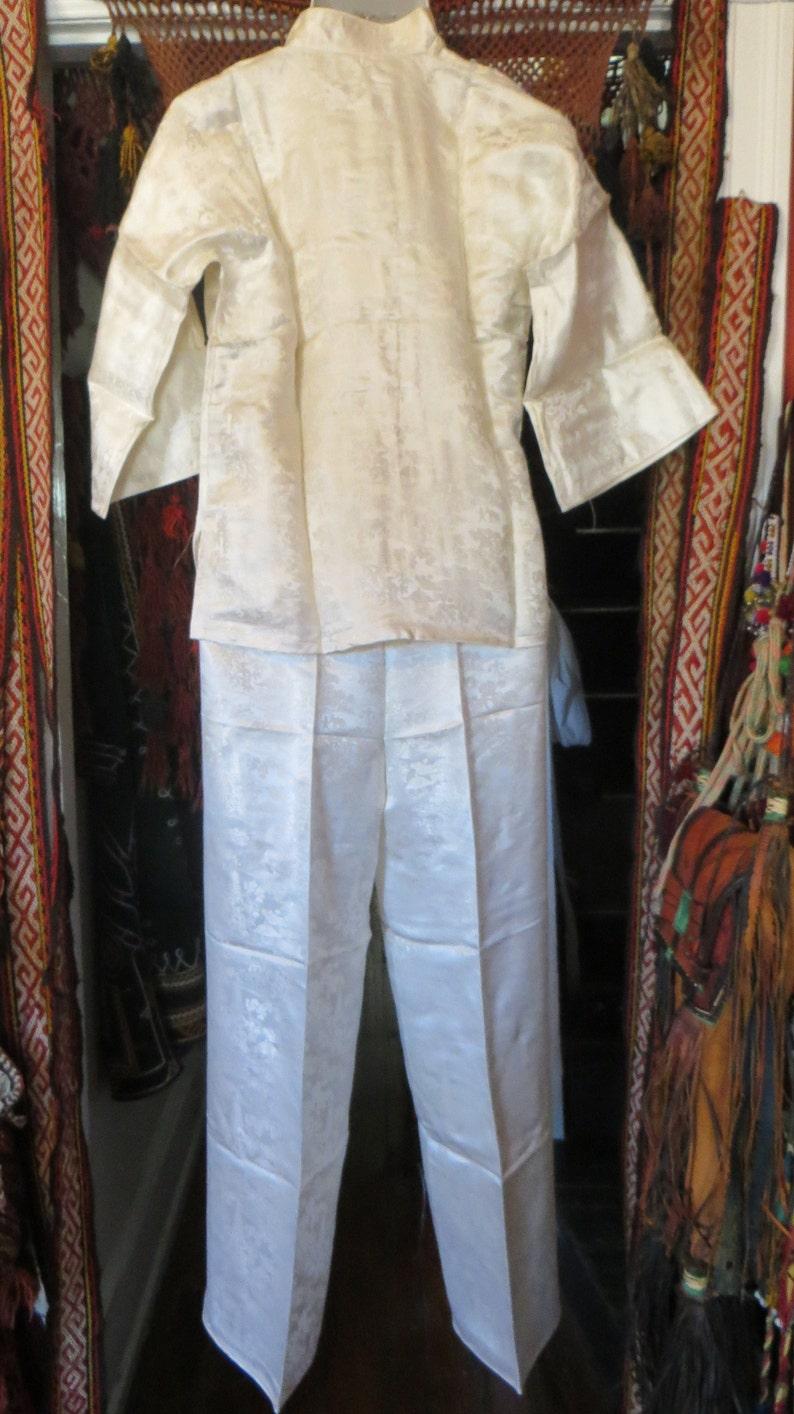 Fab 50s Asian Silk Pajama Set Beach PajamasBoudoirCostume