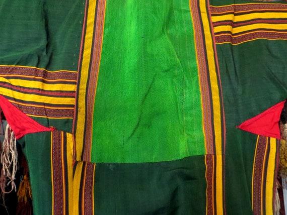 Traditional Turkmen Hand Woven Green Silk Dress/S… - image 10
