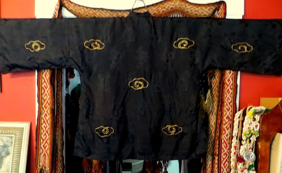 Rare 1930s/40s 3 Piece Japanese Silk Gold Embroid… - image 7