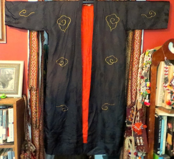 Rare 1930s/40s 3 Piece Japanese Silk Gold Embroid… - image 5