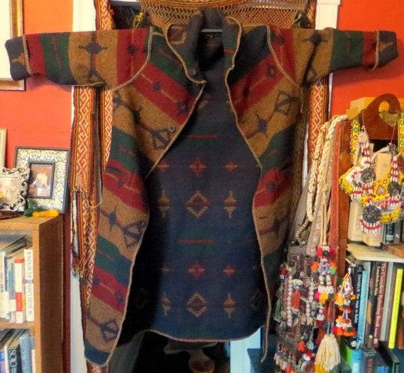 Reversible Hooded Woolrich Wool Southwestern Blank