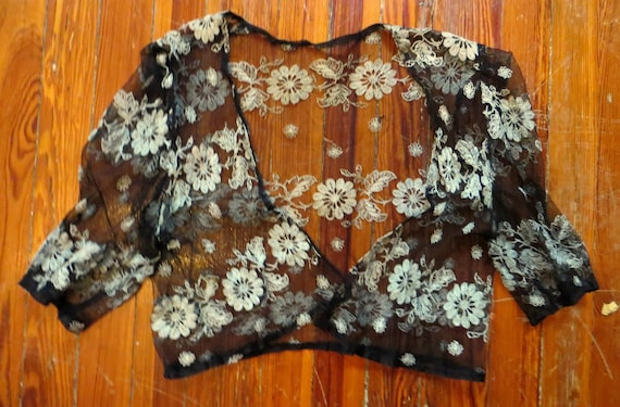 Stunning 20s/30s Embroidered Netted Jacket