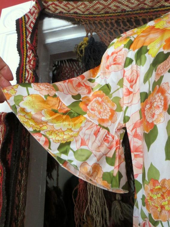NOS Vanity Fair 50s/60s Floral Nylon Beach Pajama… - image 10