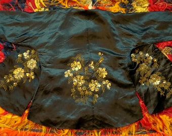 1920s Silk Embroidered Sequin and Beaded Kimono/Robe/Jacket
