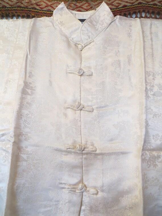 Fab 50s Asian Silk Pajama Set Beach Pajamas/Boudo… - image 4