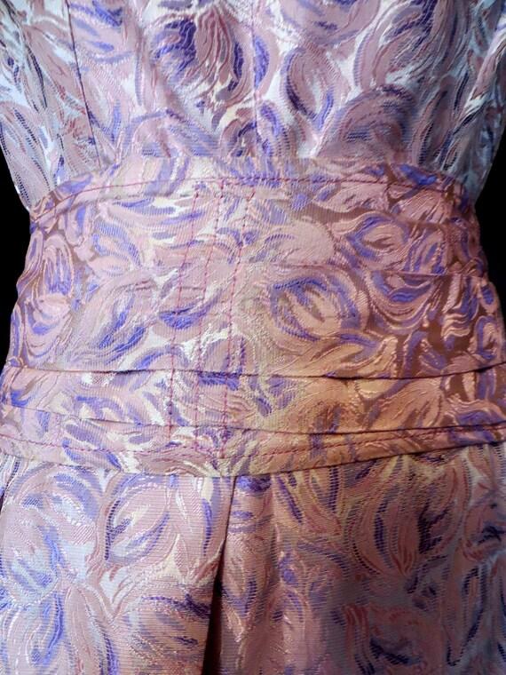 SALE Stunning 50s Silk Brocade Evening Dress