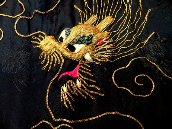 Rare 1930s/40s 3 Piece Japanese Silk Gold Embroid… - image 10
