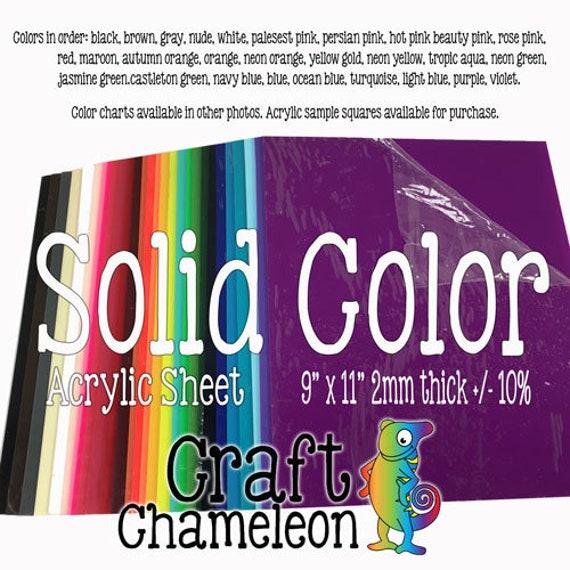 9 x 11 inch Color Acrylic Sheet Blank Laser Cutting | Etsy