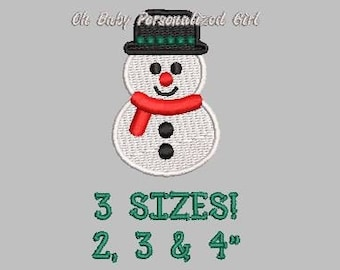 Snowman Embroidery Etsy