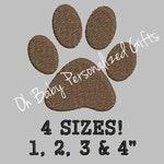BOGO Free!  Mini Dog Paw Embroidery Design Small Dog Paw Mini Dog Footprint Embroidery Design Small Dog Footprint Animal Paw Embroidery