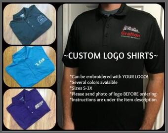 ccb6e79f Custom Logo Shirts YOUR LOGO Custom Golf Shirts Custom Business Shirts Personalized  Golf Shirts Personalized Business Shirts Custom Work