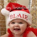 Personalized Santa Hat Monogram Santa Hat Personalized Christmas Hat Monogrammed Santa Hat Personalized Baby Santa Hat Adult Santa Hat Child