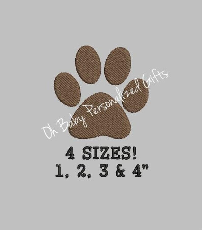 BOGO Free  Mini Dog Paw Embroidery Design Small Dog Paw Mini image 0