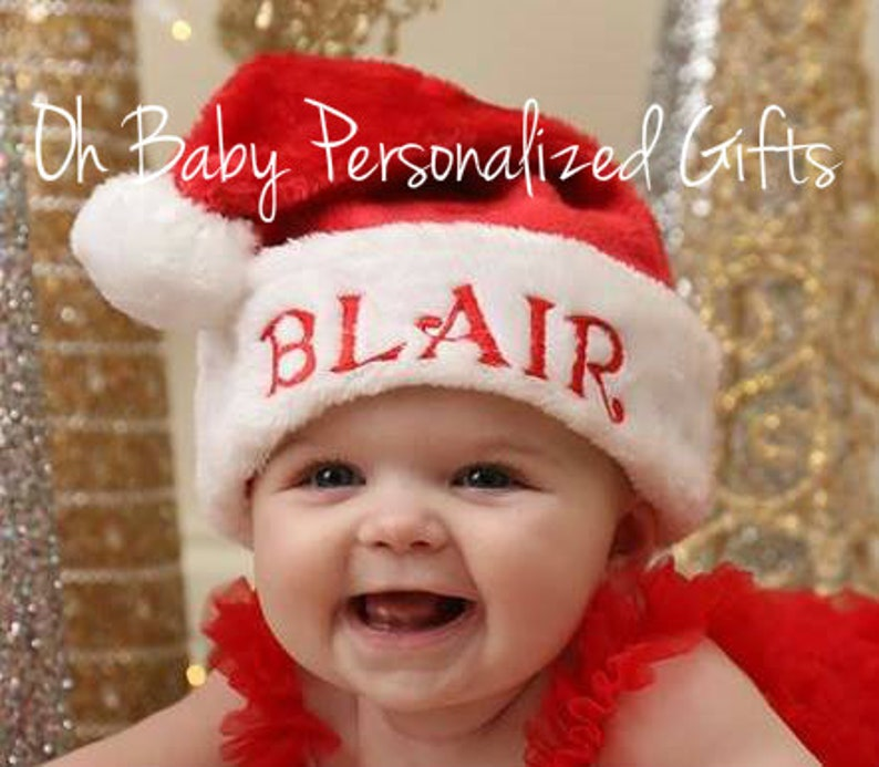 Personalized Santa Hat Monogram Santa Hat Personalized image 0