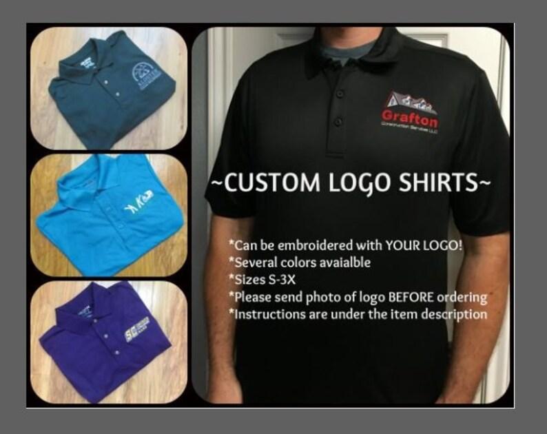 Custom Logo Shirts YOUR LOGO Custom Golf Shirts Custom Business Shirts  Personalized Golf Shirts Personalized Business Shirts Custom Work