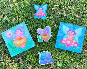 Fairy Collection: Original Art, LE Signed Prints, Stickers, Magnets