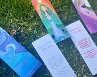 Bookmarks/Prayer Cards: Blessed Mother Collection by Sey Studios