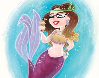 Devenir un personnage! Sirène, fée, sirène, super héros, etc - Caricature à la main peint ORIGINAL - Portrait du personnage,