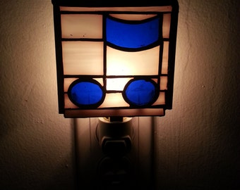 Stained Glass Eighth Note NightLight