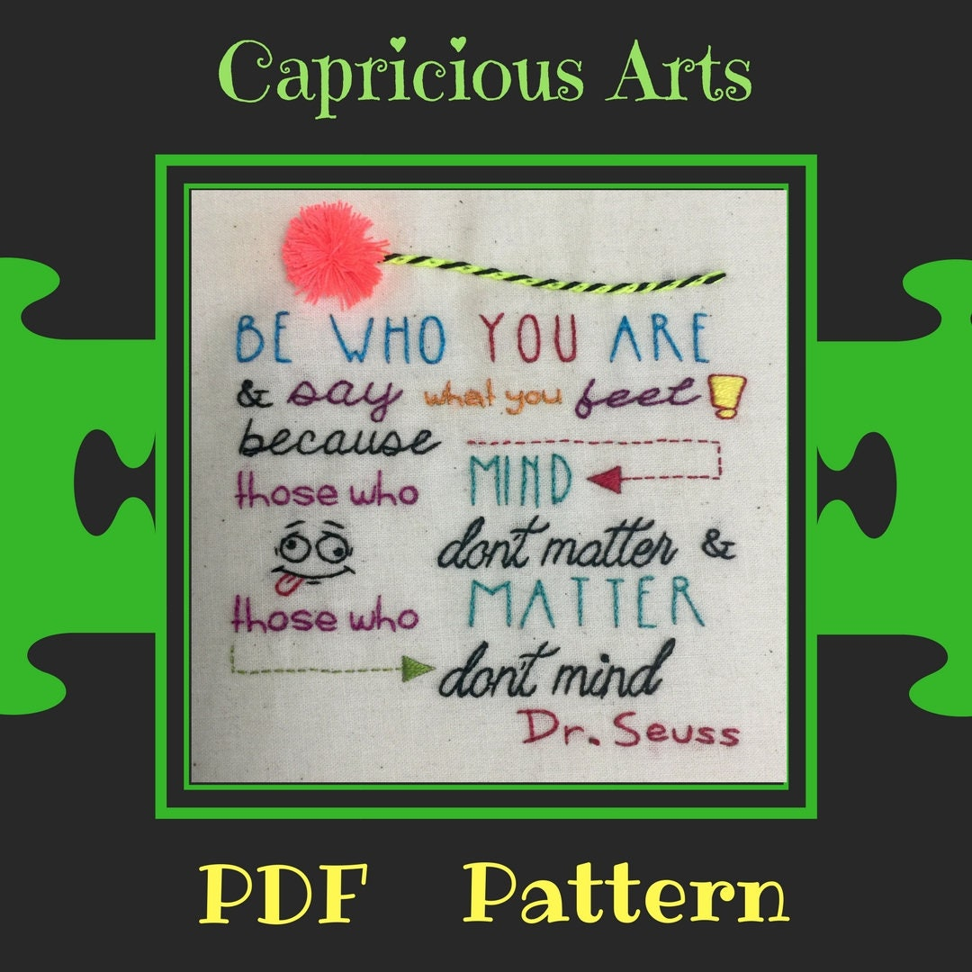 Be Who You Are Pdf Pattern Download Wise Whimsical Patterns