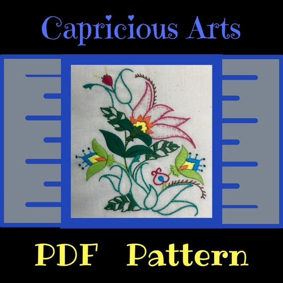 Fancy Flowers PDF Pattern, Download, Flower, Patterns, Embroidery, Hand Embroidery, Thread Art, Embroidery Hoop, Wall Art