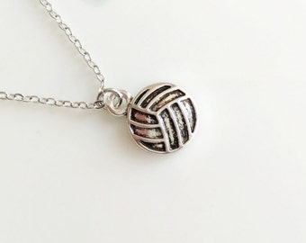 Volleyball Necklace Silver Boho Simple Minimalist Ball Sport Team Necklace 4207