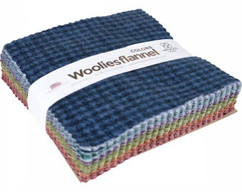 Woolies Flannels Colors Charm Pack Quilt Fabric  42   5""