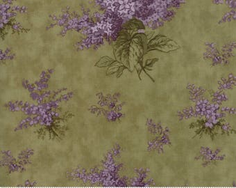 Lilac Ridge Green Floral  Moda Quilt Fabric by the 1/2 yard