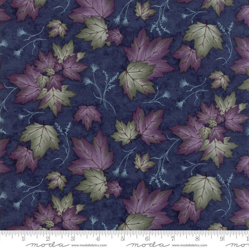 Dogwood Trails 2 Blue Dots Moda Quilt Fabric by the 1//2 yd #35-21